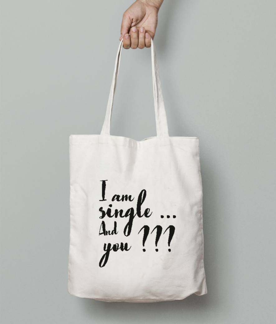 Single tote bag front