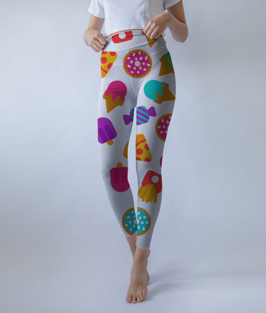 Food love 2 leggings front
