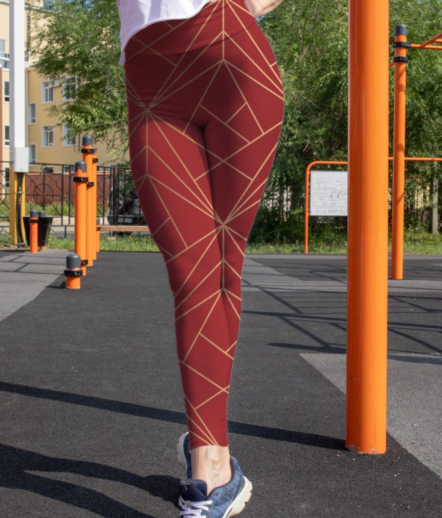 Golden lines 2 leggings front