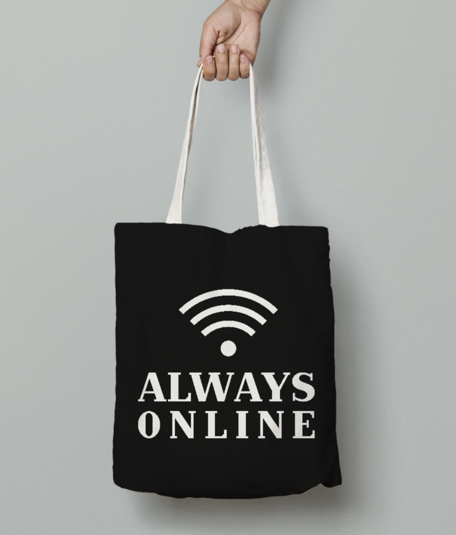 Online tote bag front