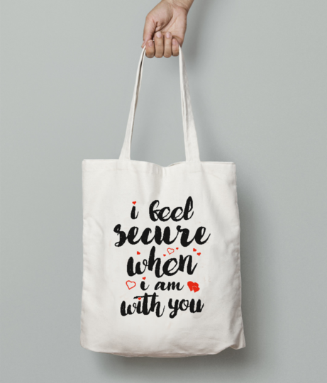 Feel tote bag front