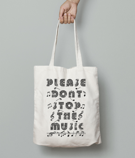 Music tote bag front