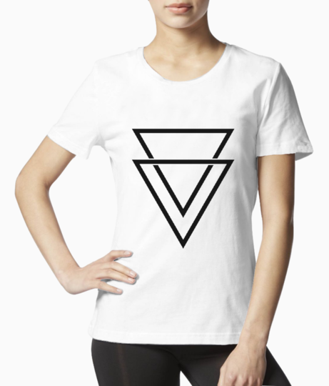 Double triangle tee front