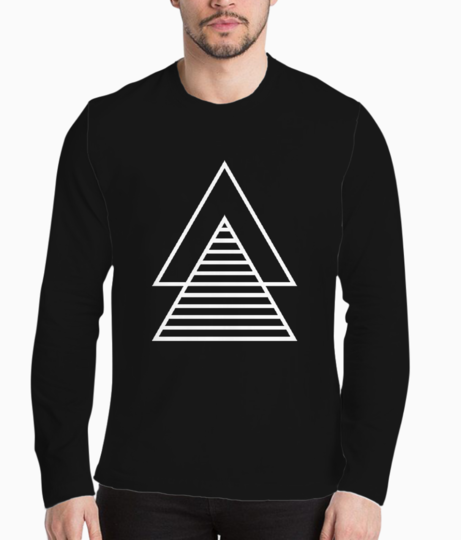 Vector double triangle henley front