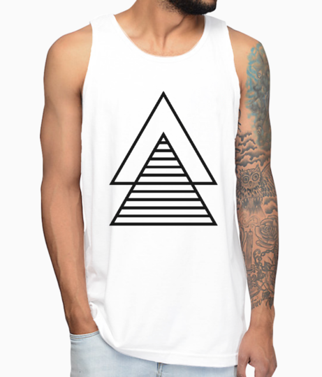 Minimal double triangle vest front