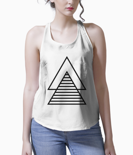 Minimal double triangle tank front