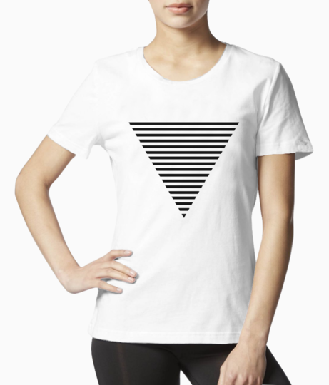Triangle striped tee front