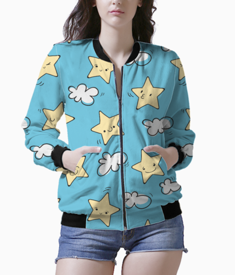 Star pattern bomber front