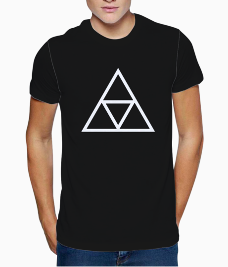 Vector triple triangle t shirt front