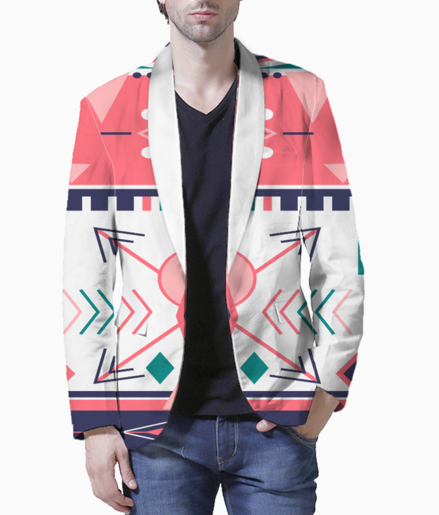 Tribal design 1 blazer front