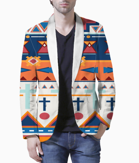 Tribal design 2 blazer front