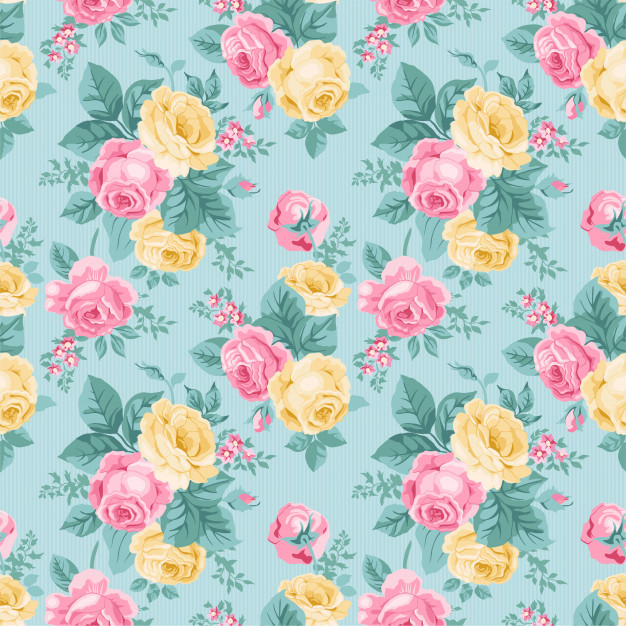 Watercolor floral leaves seamless pattern background 84433 24