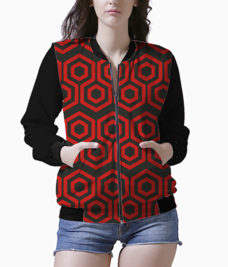 Red hexagone bomber front