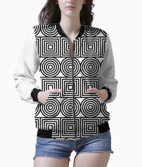 Circles and squares bomber front