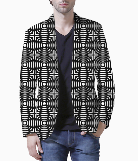 Abstract circles and squares blazer front