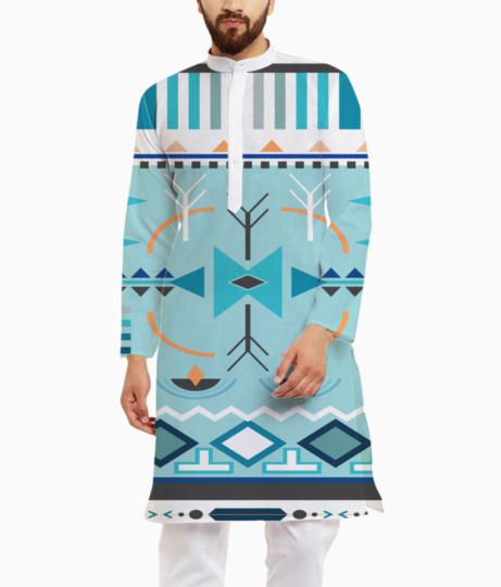 Tribal design 3 kurta front