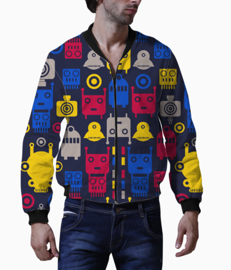 Colorful robots bomber front