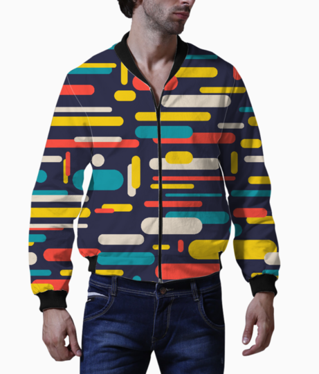 Colorful rounded rectangle bomber front