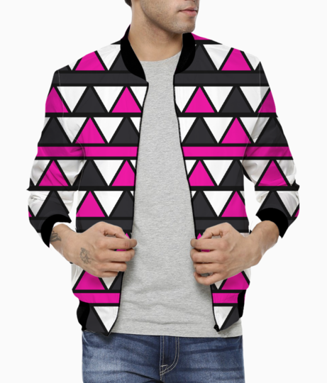 Pink triangles bomber front