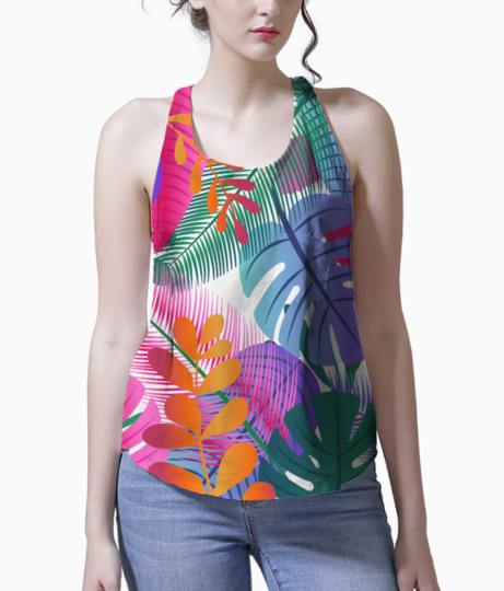 Tropical background tank front