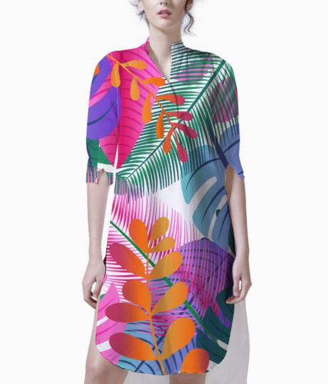 Tropical background kurti front