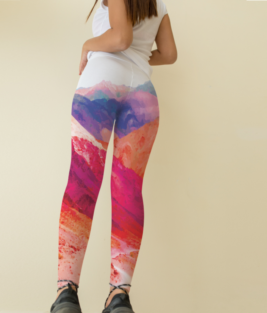Mountain leggings back