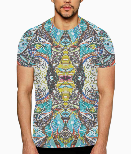 Abstract doodle t shirt front