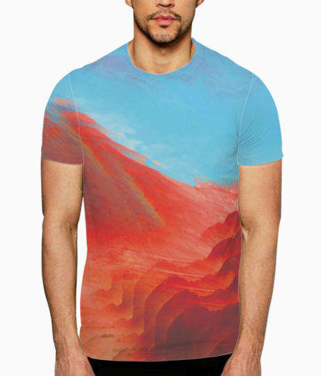 Mountain glitch t shirt front