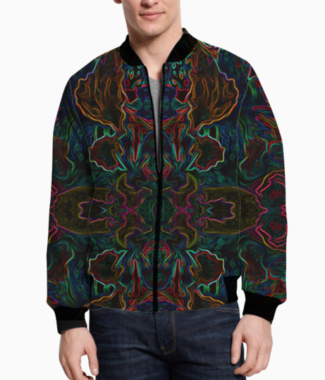 Abstract jungle hilight bomber front