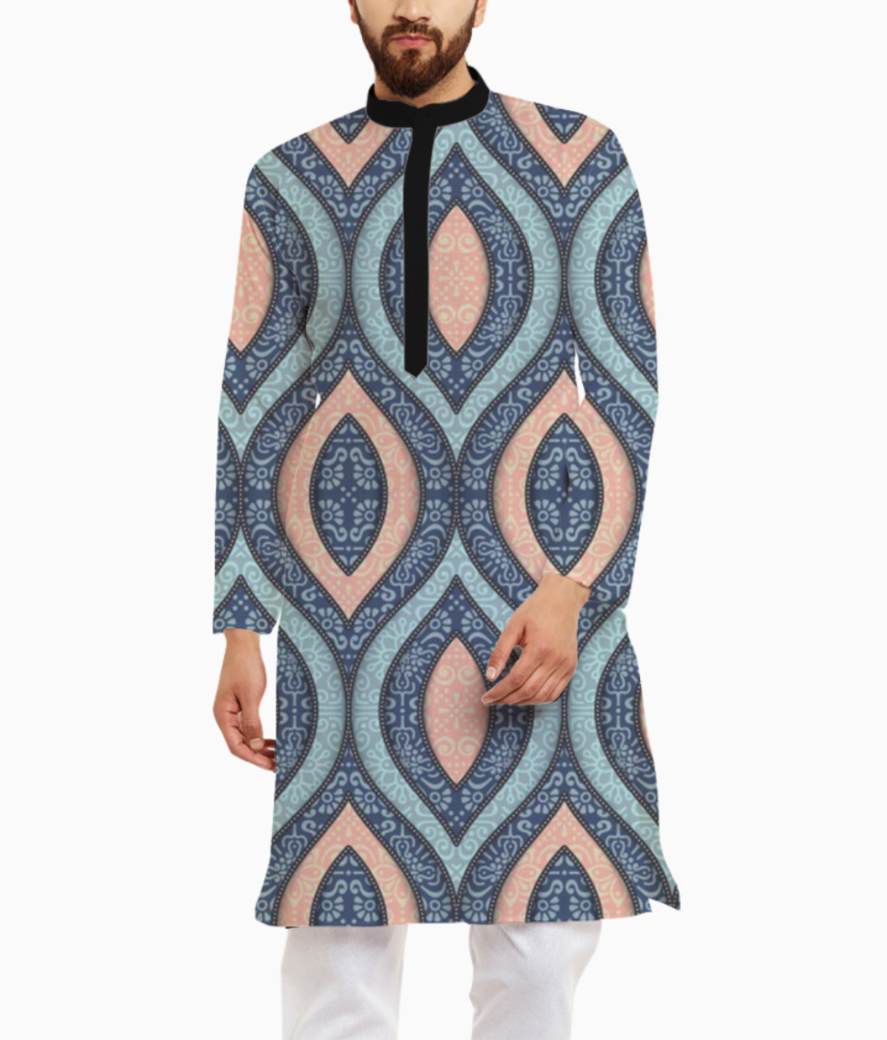 Background hand drawn ornamental shapes 1159 1417 kurta front