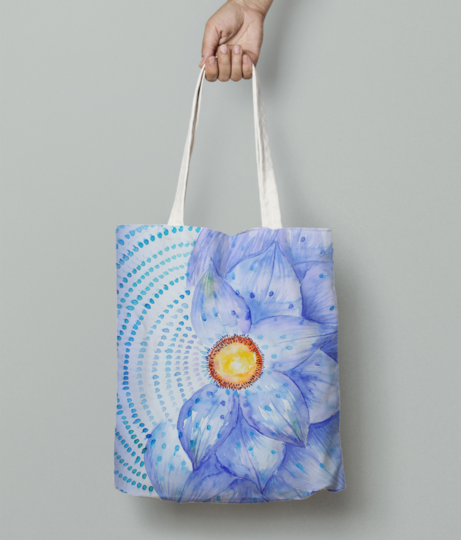 5 space coaster alternate1 blue tote bag front