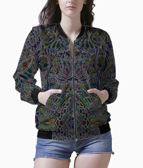 Hypnotic lines bomber front