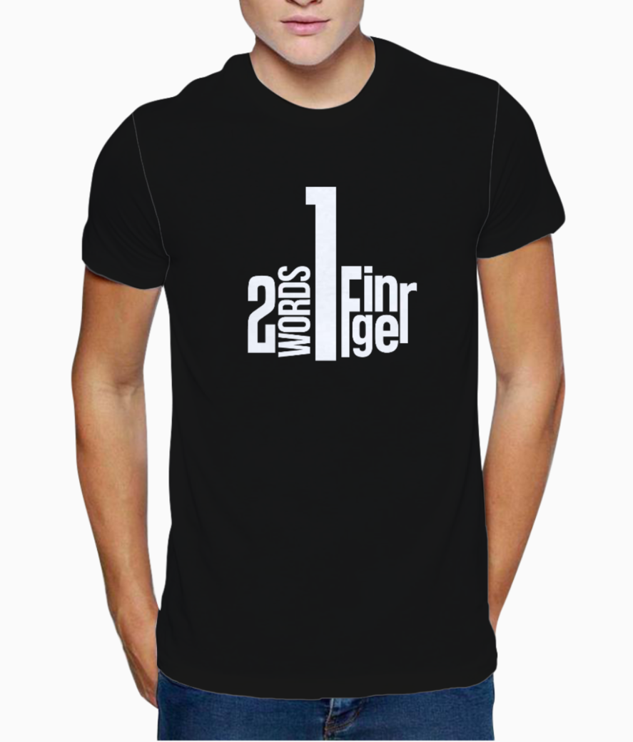 One finger t shirt front