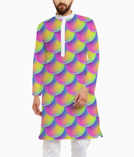 Mermaid pattern kurta front