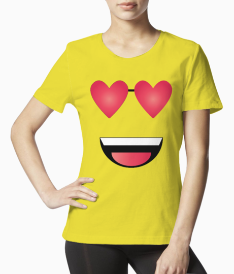 Blush smiley with transparent background 01 tee front