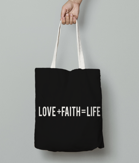 Love  faith   life 01 tote bag front