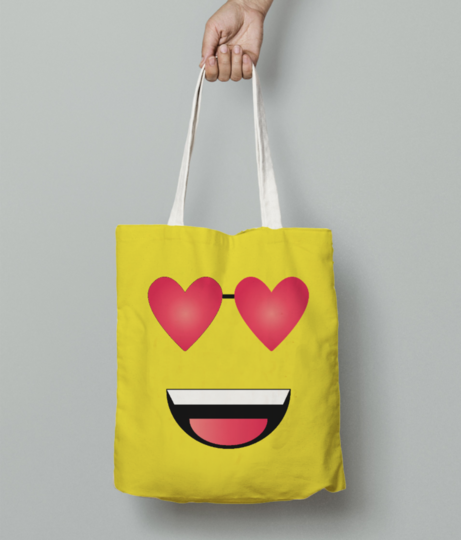 Blush smiley with transparent background 01 tote bag front