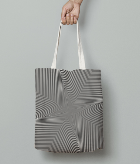 Vector illustration of the abstract triangle pattern   geometric figure tote bag front