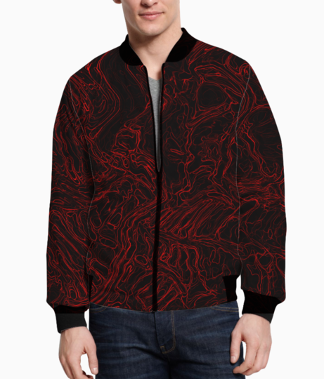 Red waves bomber front