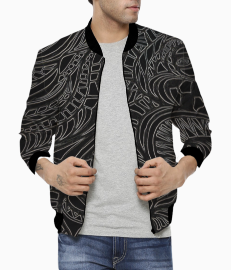 Abstract monochrome bomber front