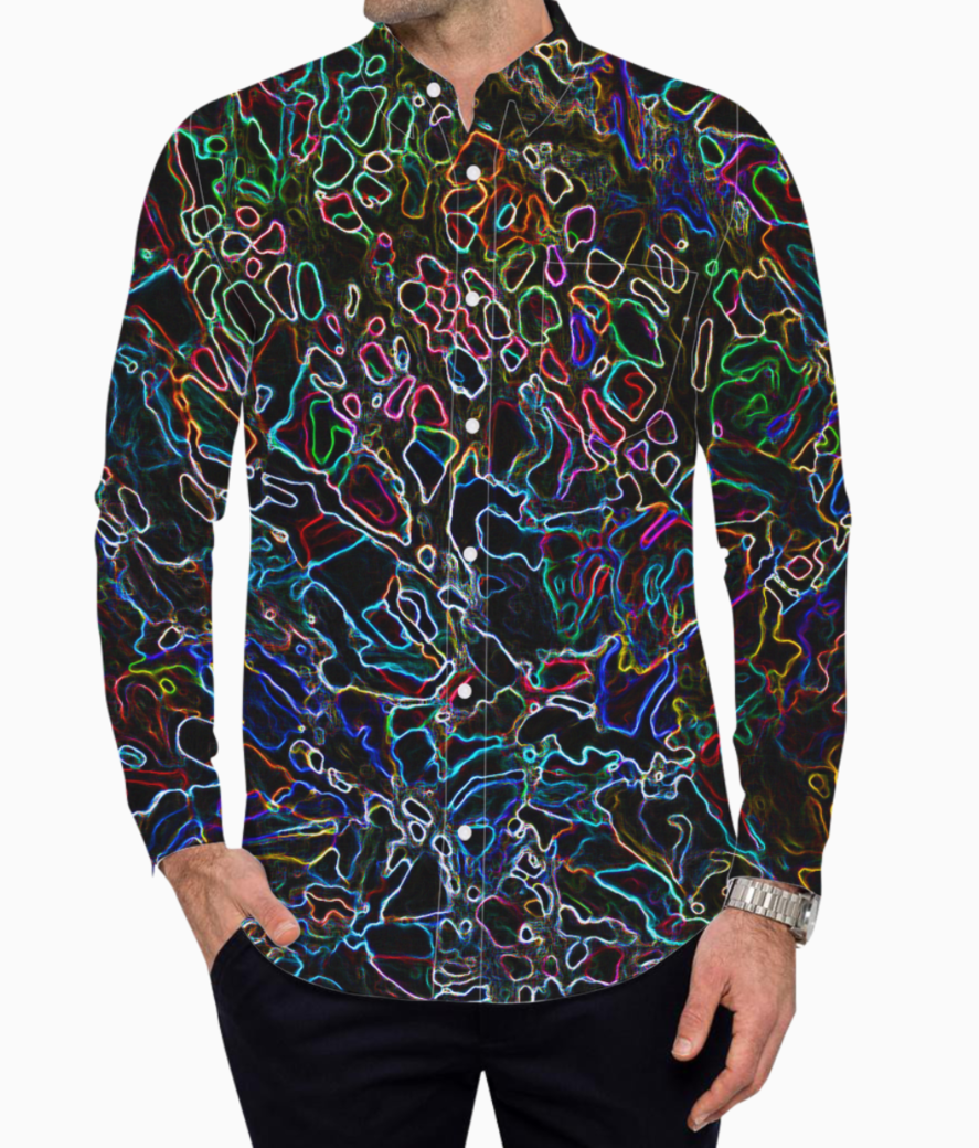 Abstract colors basic shirt front