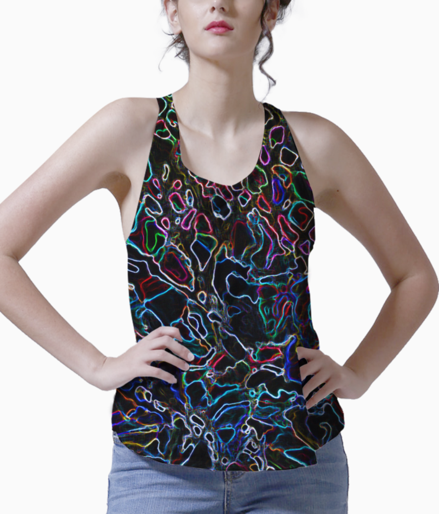 Abstract colors tank front