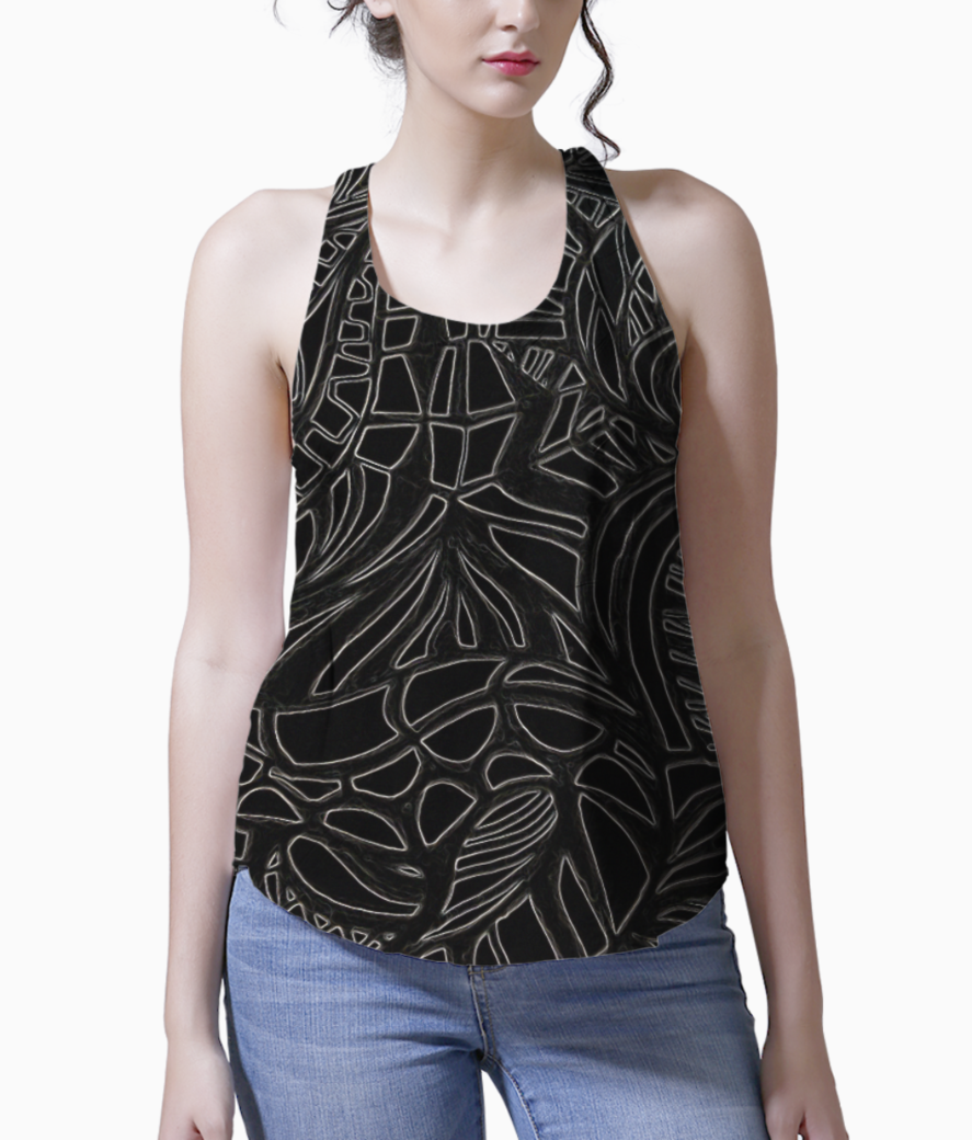 Abstract monochrome tank front