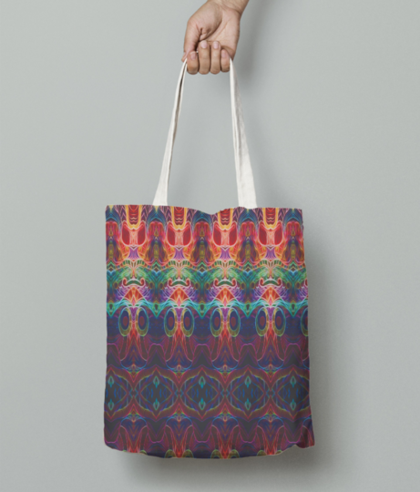 Glow away tote bag front