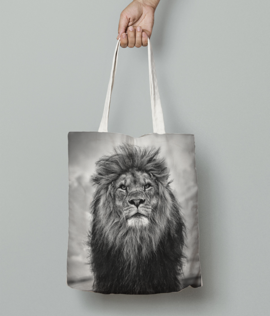 51 517876 lion hd wallpaper iphone x tote bag front
