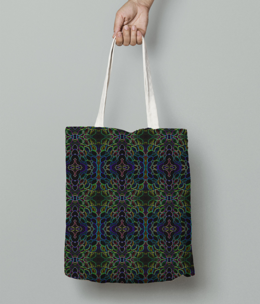 Bright tote bag front