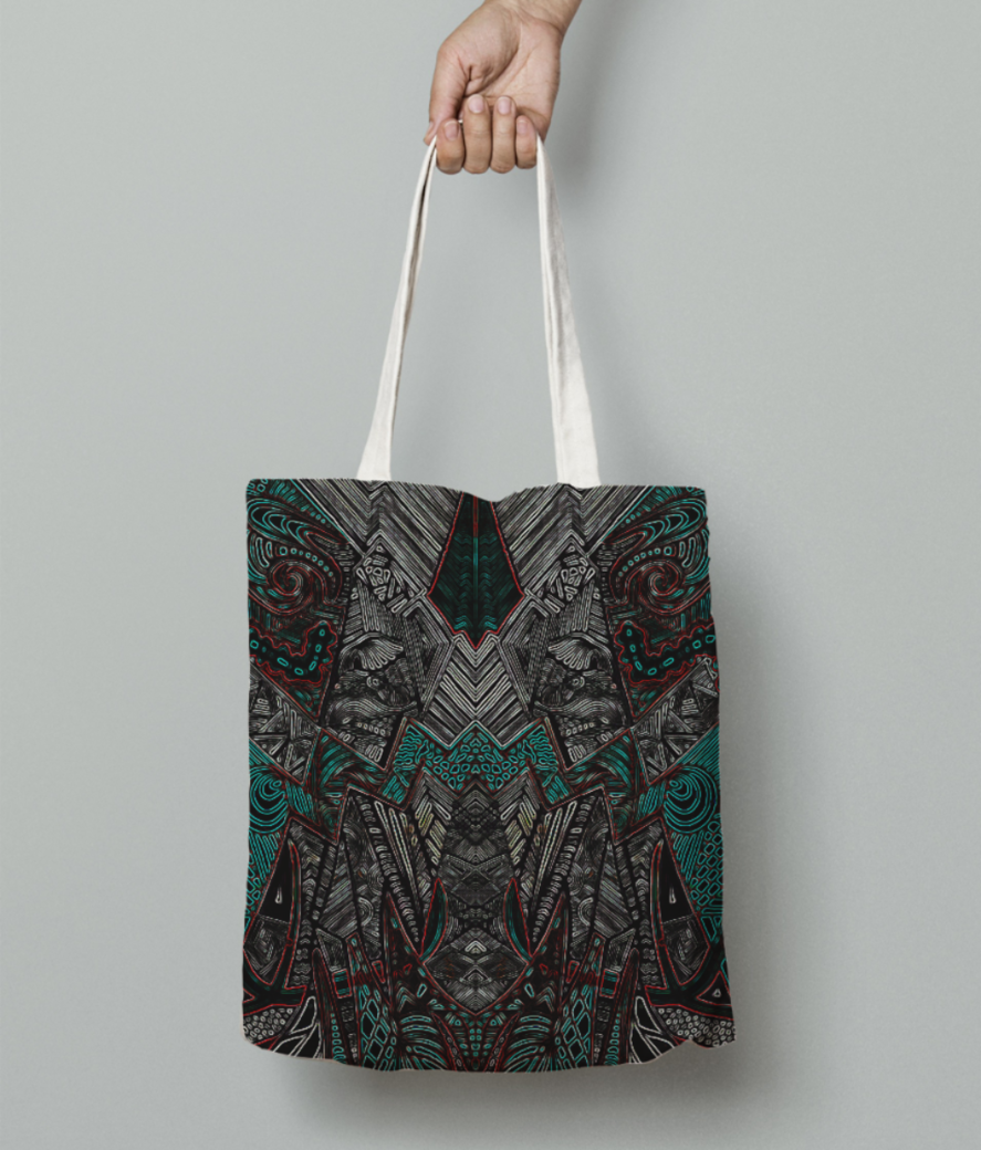 Dragon evo tote bag front