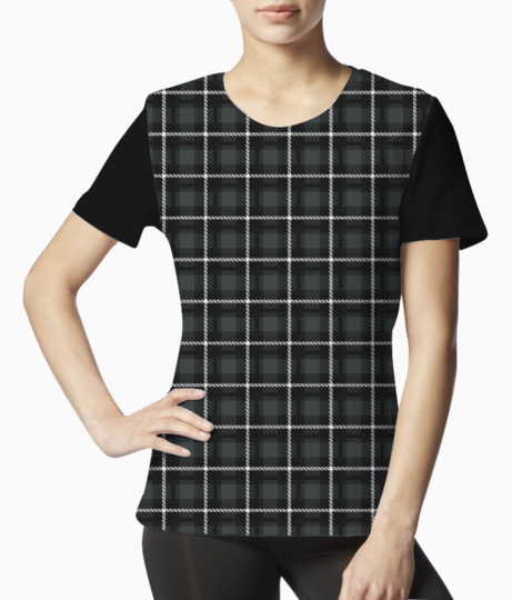 Shadow scottish tartan tee front