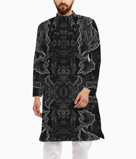 Abstract jungle kurta front