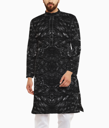 Abstract shadow kurta front